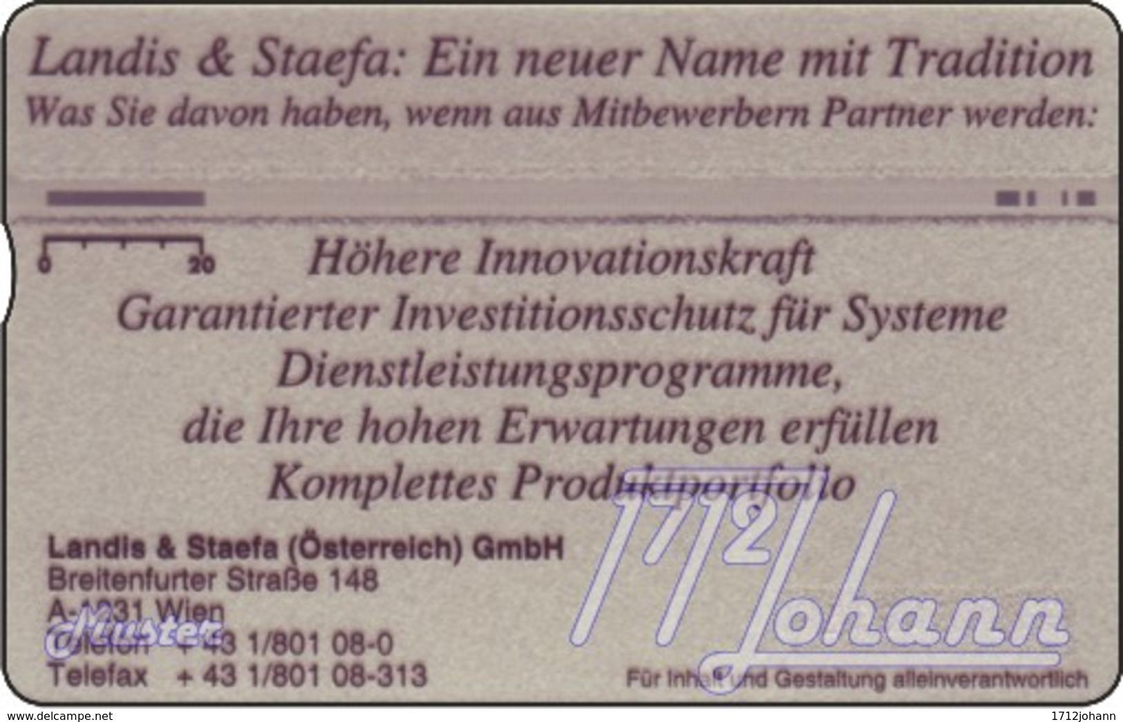 """TWK Österreich Privat: """"Landis & Staefa - Know How2"""" (610L) Gebr. - Oesterreich"""