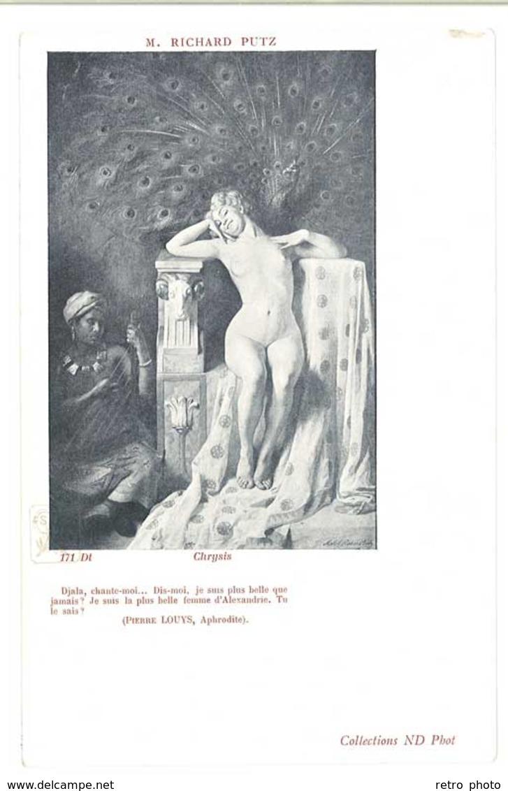 Cpa Femme Nue, Chrysis, Richard Putz ( Femme & Servante Noire )   ( AM ) - Nus Adultes (< 1960)