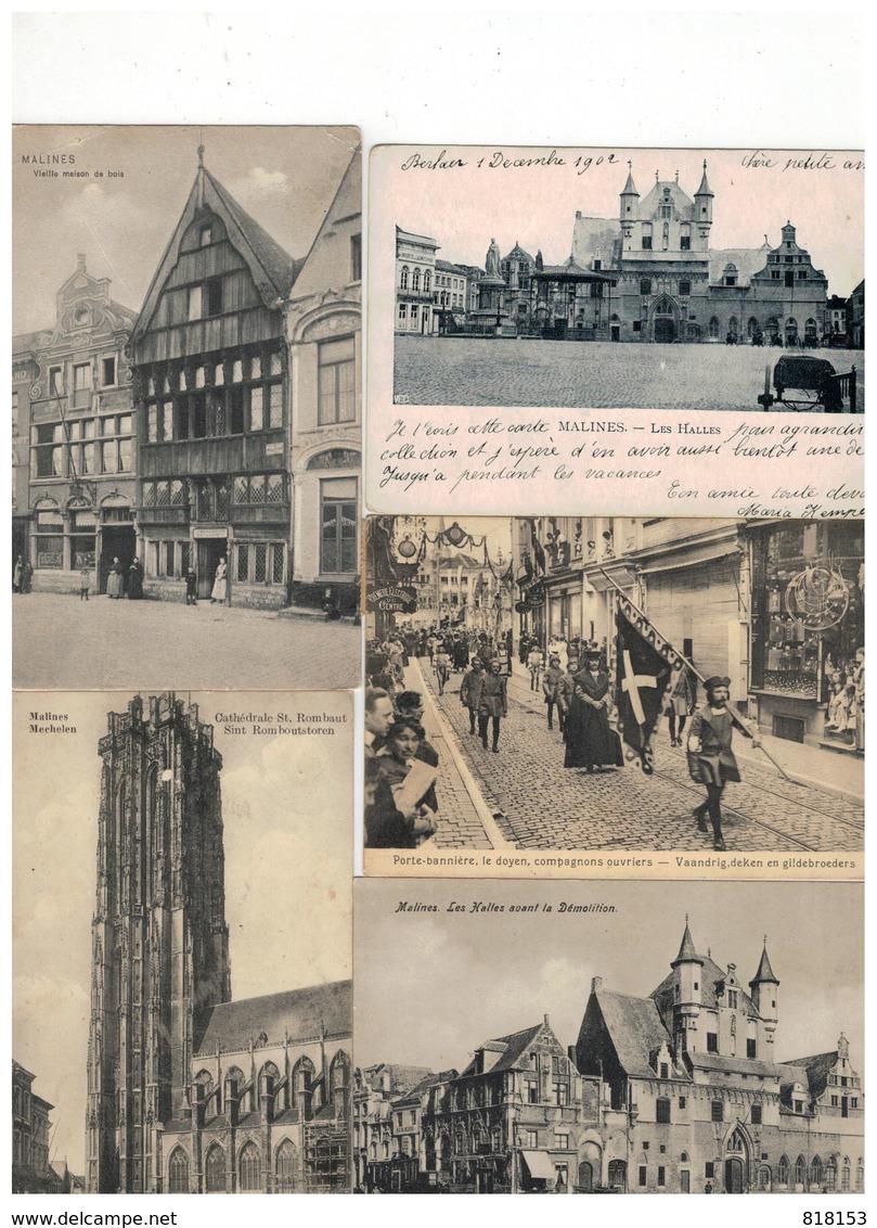 Mechelen  Malines:mooi Lot Van 100 Oude Postkaarten - Postcards