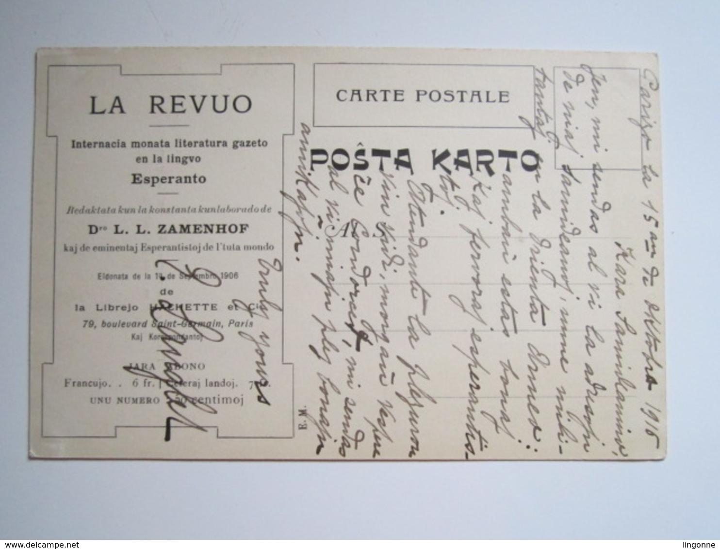 Tria Kongreso De Esperanto En Cambridge Triano Geo Cunningham Kun Prof° Carlo Bourlet En Strato De Cambridge - Esperanto