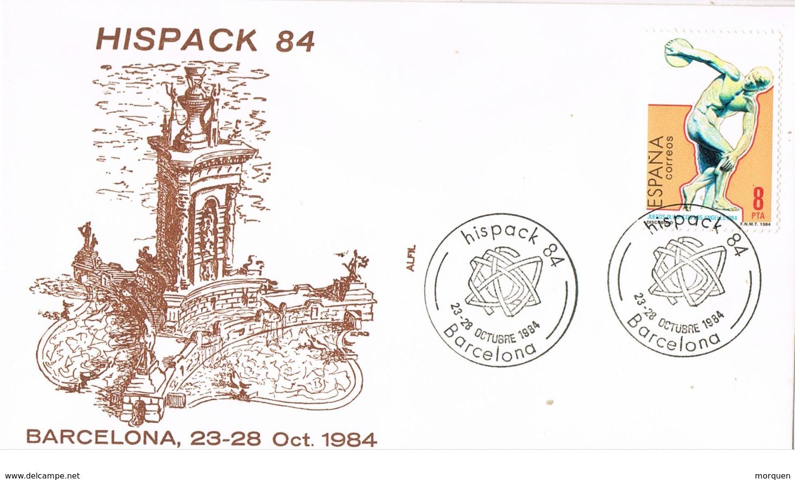 33686. Carta BARCELONA 1984. Feria HISPACK 84 - 1931-Hoy: 2ª República - ... Juan Carlos I