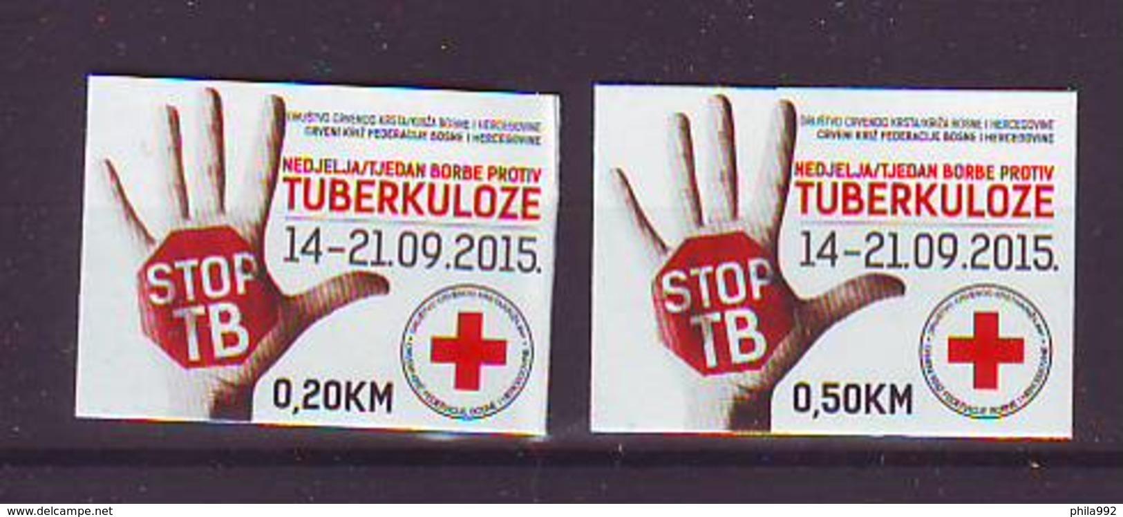 BiH Bosnia 2015 Y Charity Stamp Red Cross Tuberculosis Mi No 34 Selfadhesive MNH - Bosnie-Herzegovine