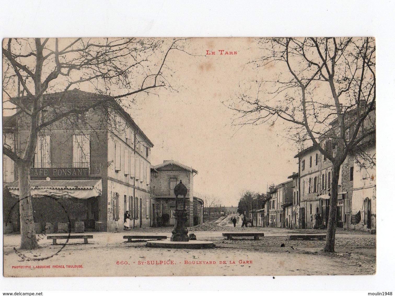 81 - Saint Sulpice La Pointe  Tarn Le Boulevard De La Gare - Saint Sulpice