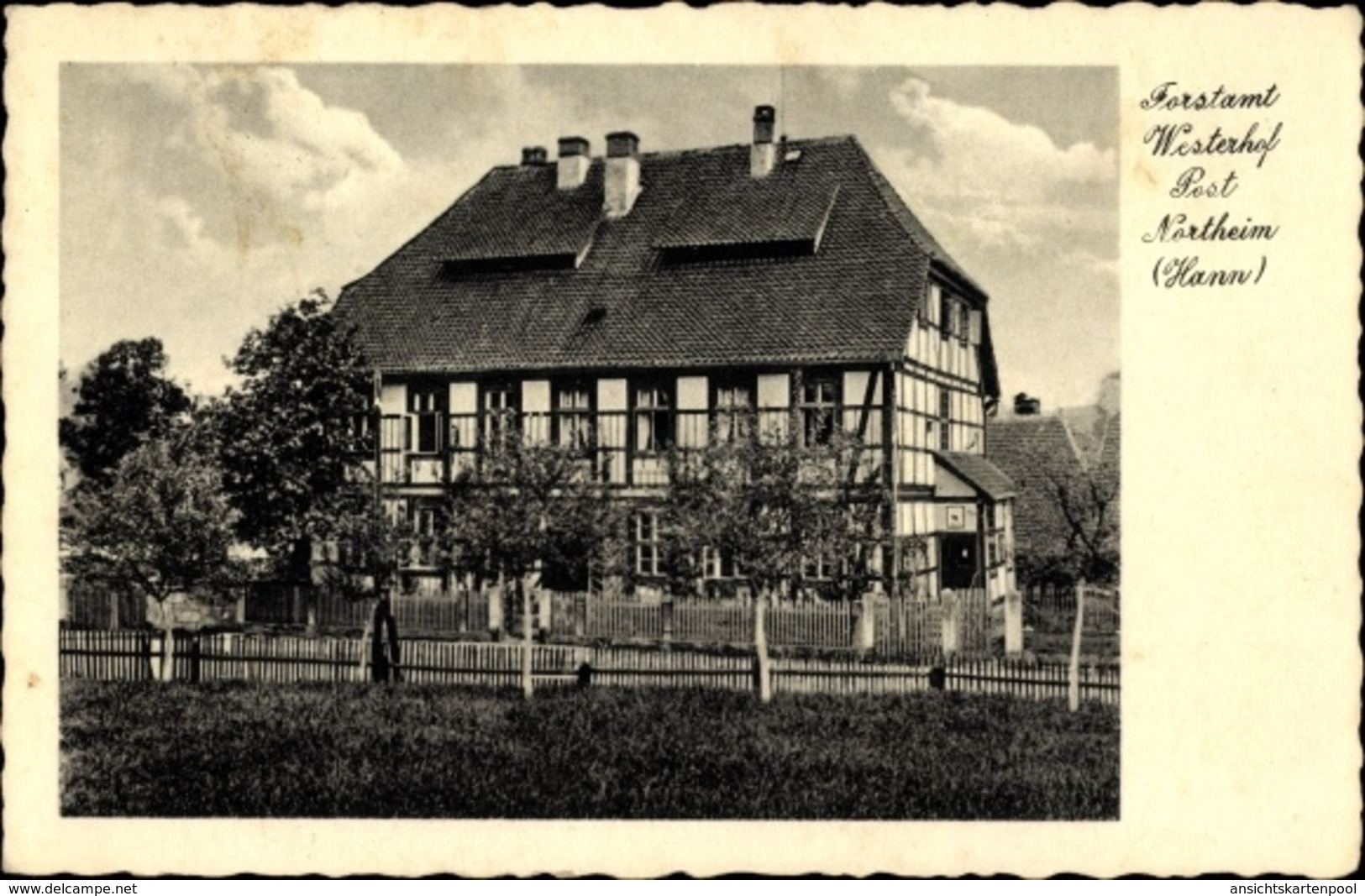 Cp Westerhof Kalefeld In Niedersachsen, Blick Auf Das Forstamt, Fachwerkhaus - Deutschland