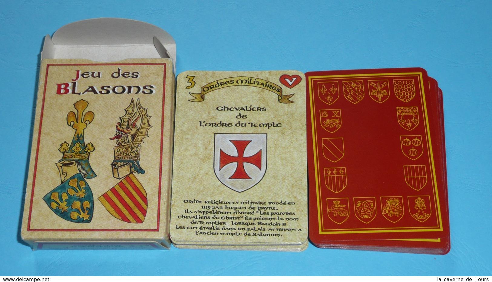 Rare Jeu De 54 Cartes Des Familles, Jeu Des Blasons, écus, Jokers, Héraldique - Jeux De Société