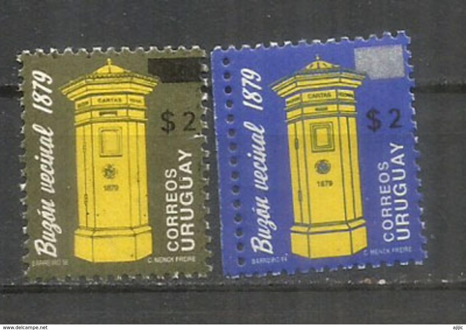 Boite à Lettres De L'Uruguay (année 1879) , Deux Timbres Neufs ** Années Différentes 1994 Et 1996 - Uruguay