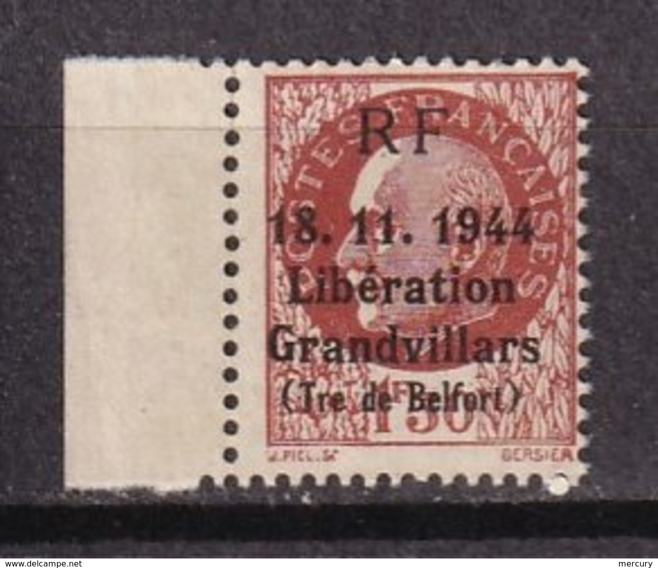 LIBERATION - Grandvillars -  5 Valeurs TB - Liberation
