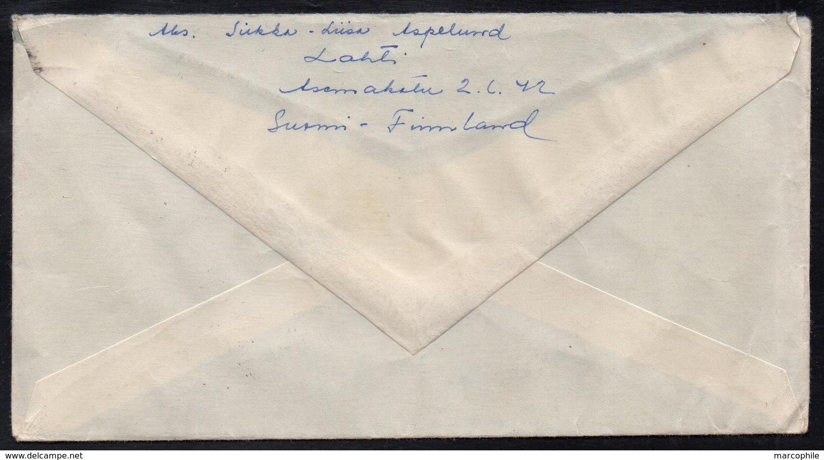 LAHTI - FINLANDE - FINLAND  / 1954  LETTRE  POUR LA FRANCE (ref LE3586) - Finnland