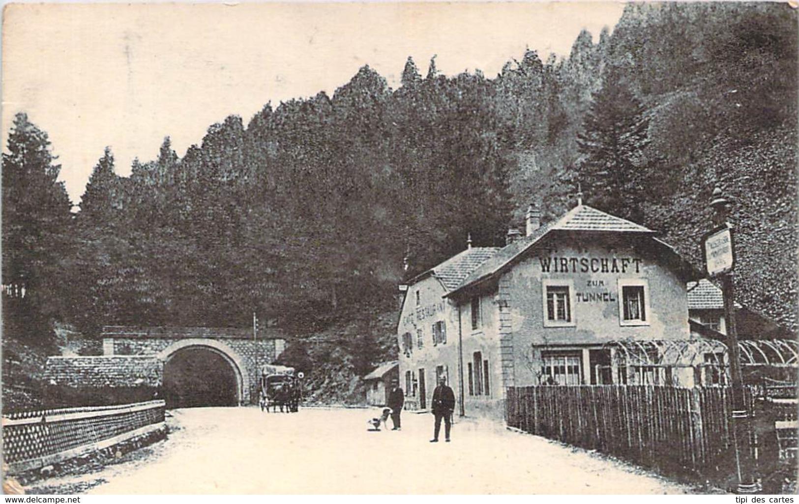 88 - Bussang - Entrée Du Tunnel (Sans Légende) (Wirtschaft Zum Tunnel, Café Restaurant) - Bussang