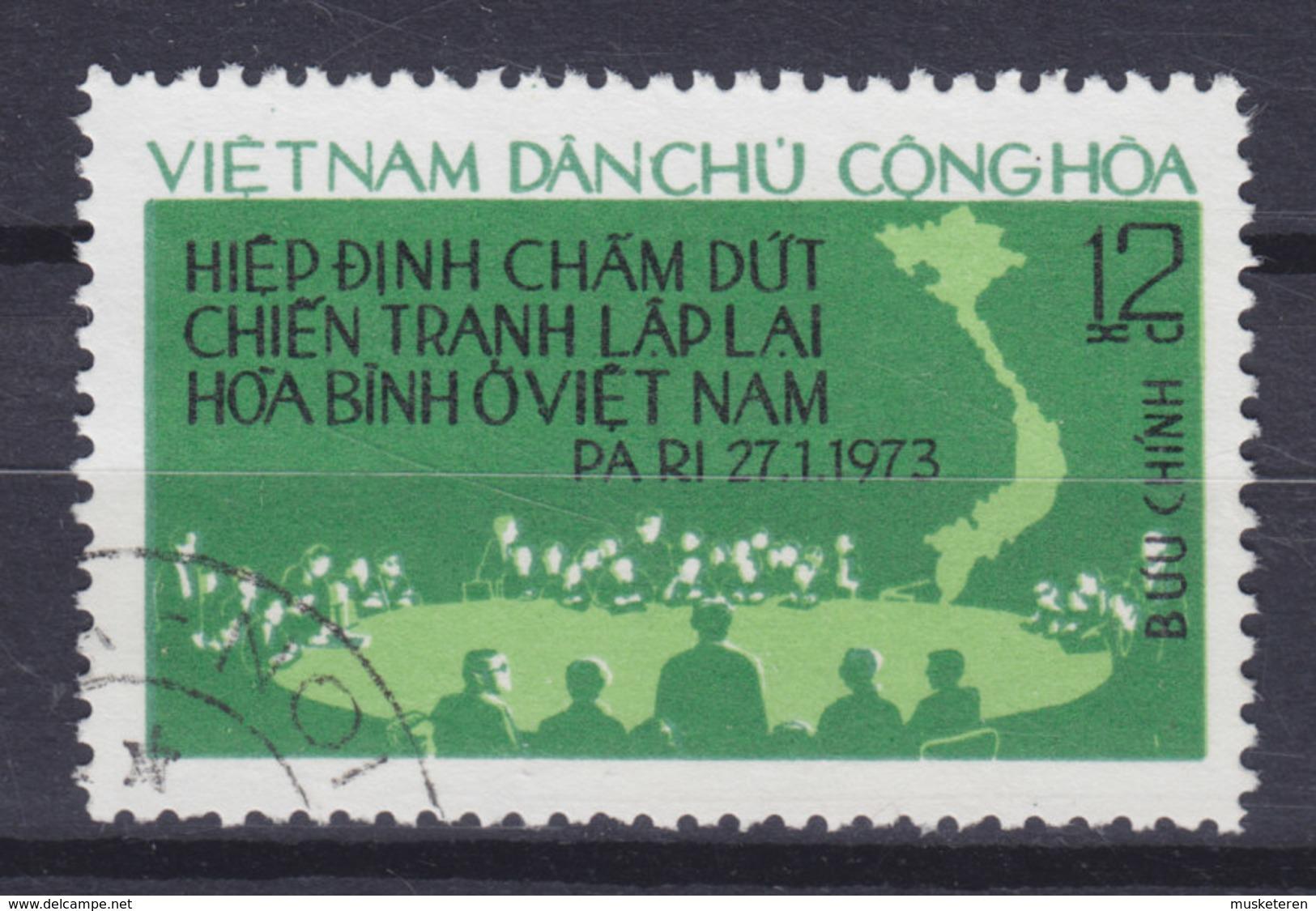 Vietnam 1975 Mi. 788    12 Xu Pariser Abkommens Treaty - Vietnam