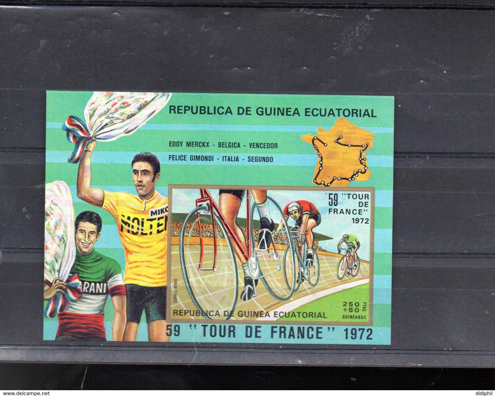 GUINEE EQUATORIALE MICHEL BLOC 73 **SUR EDDY MERCKX POUR LE TOUR DE FRANCE 1972 - Guinée Equatoriale