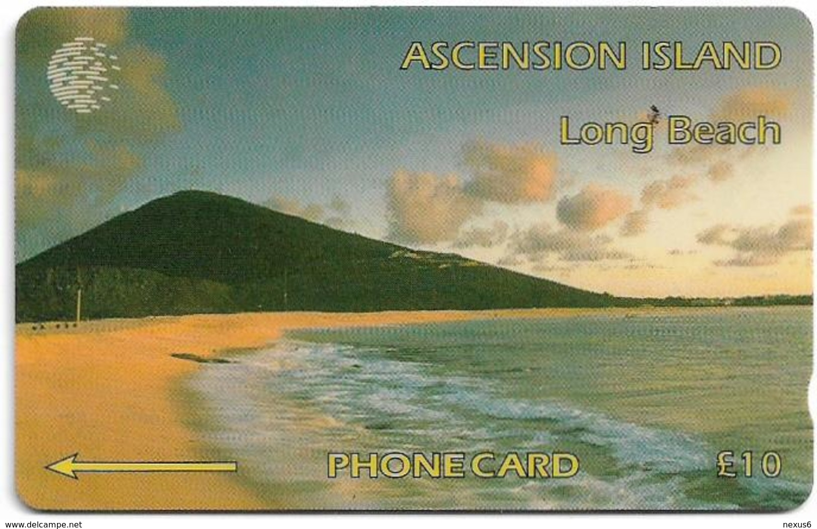Ascension Isl. - Long Beach, 6CASB, 1994, 5.000ex, Used - Ascension (Insel)