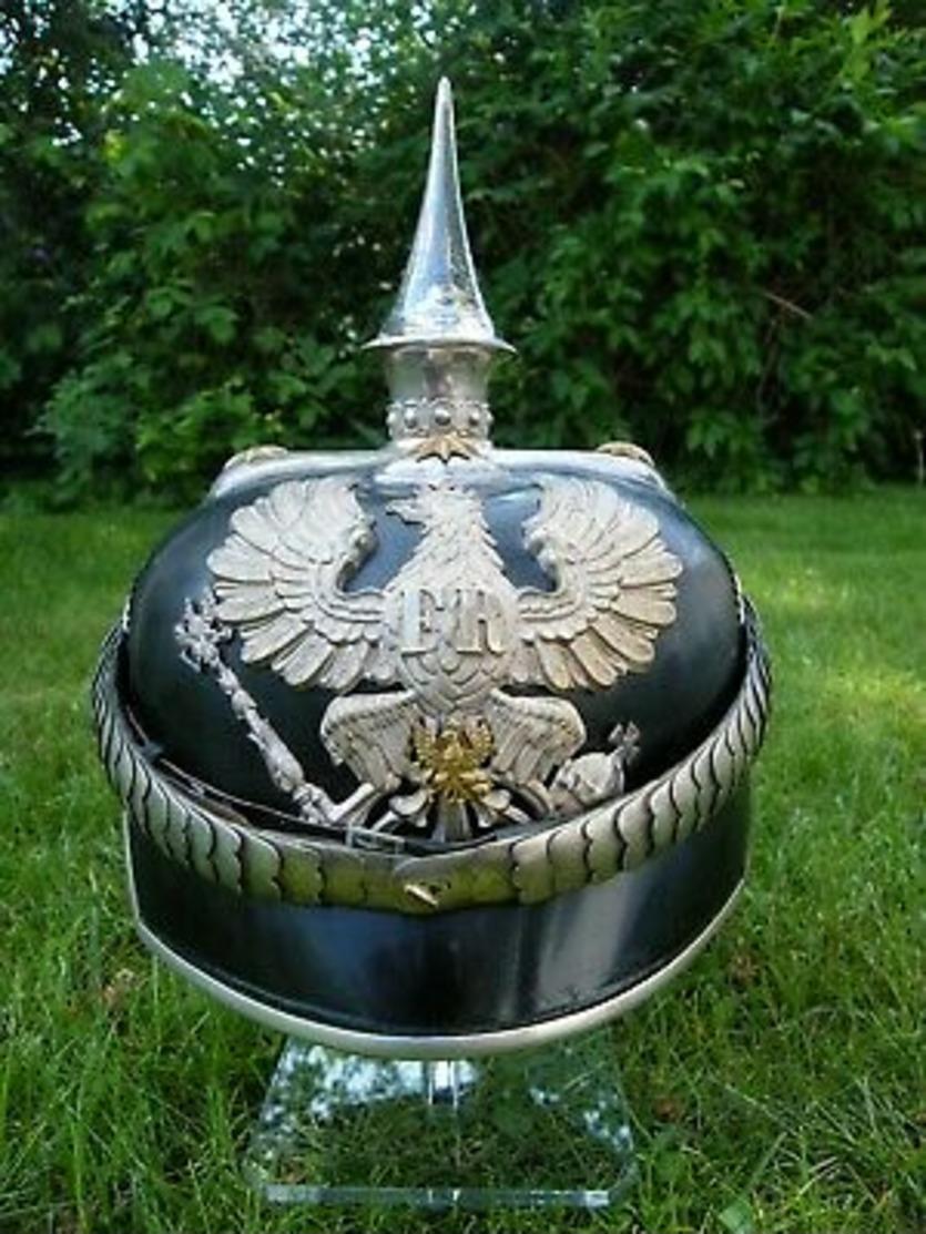 CASQUE A POINTE OFFICIER MÉDECIN PRUSSIEN PICKELHAUBE WW1 - 1914-18
