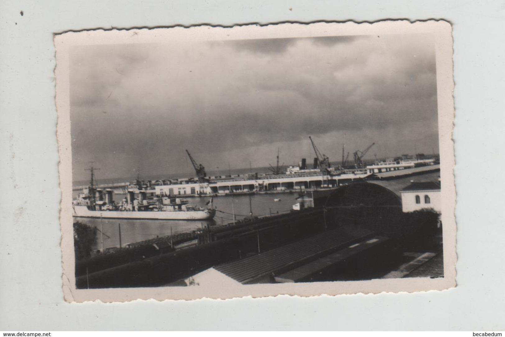 Photo Originale 1941 Port D'Alger Bateaux   à Identifier - Krieg, Militär