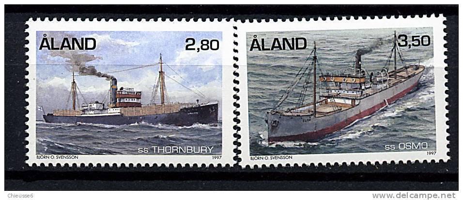 Aland** N° 131/132 - Navires à Vapeur - Aland