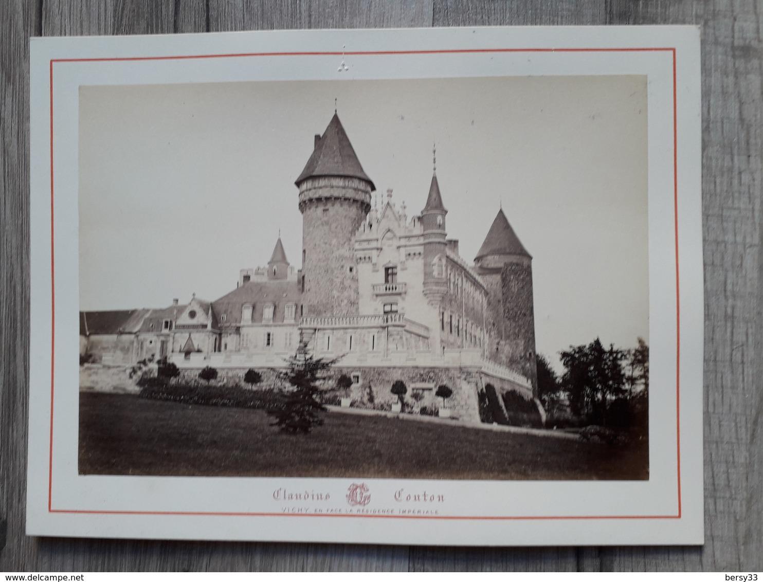 VICHY -CHATEAU DE BUSSET - Photographie Ancienne Albuminée De Claudius Couton - Photos