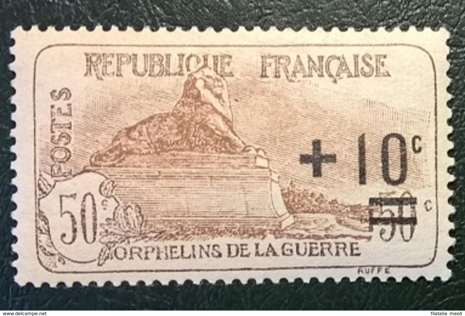 FRANCIA 1922 PRO ORFANI DI GUERRA - Nuovi