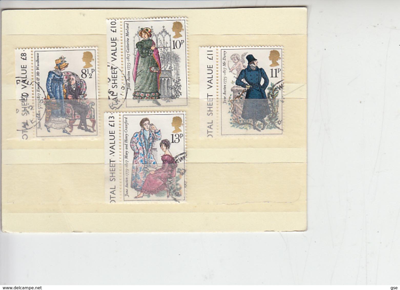 GRAN BRETAGNA 1975 - Unificato 766/69 - J. Austen - Letteratura - Usati