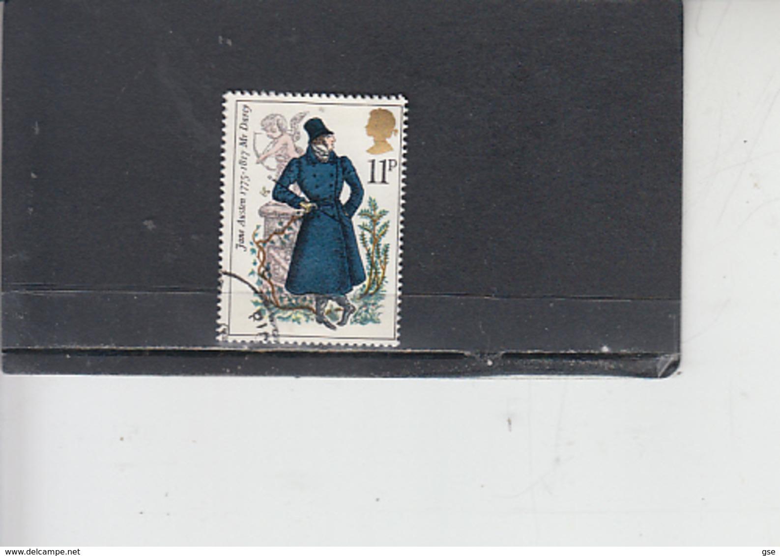 GRAN BRETAGNA 1975 - Unificato 768 - J. Austen - Letteratura - 1952-.... (Elisabetta II)