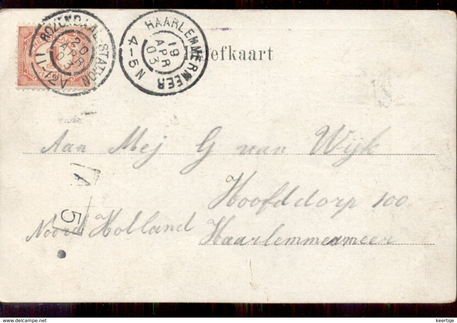 Heerlemmermeer - Grootrond - Rozendaal Station - 1903 - Pays-Bas