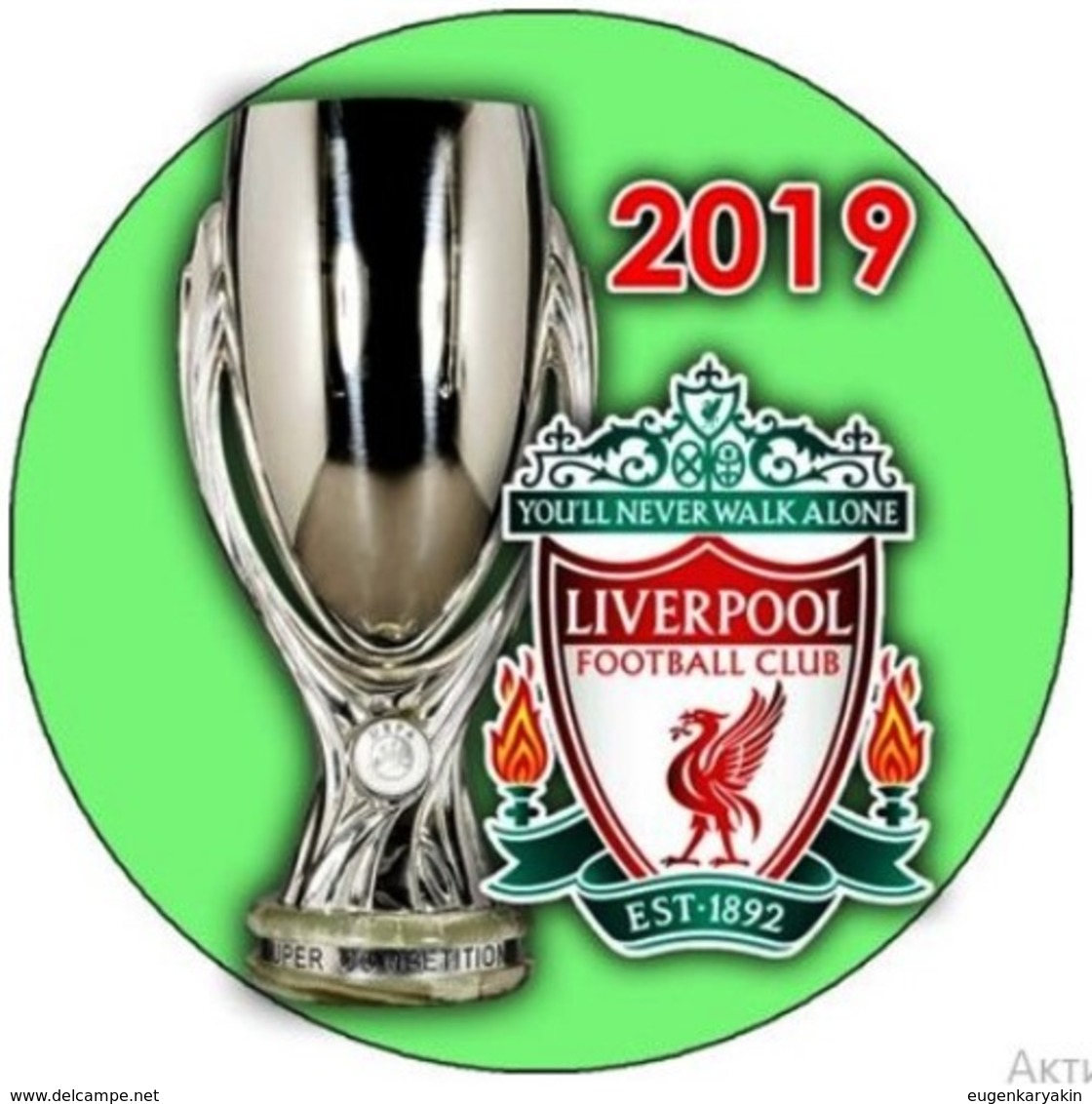 PIN LIVERPOOL SUPER CUP UEFA 2019 WINNER - Fussball