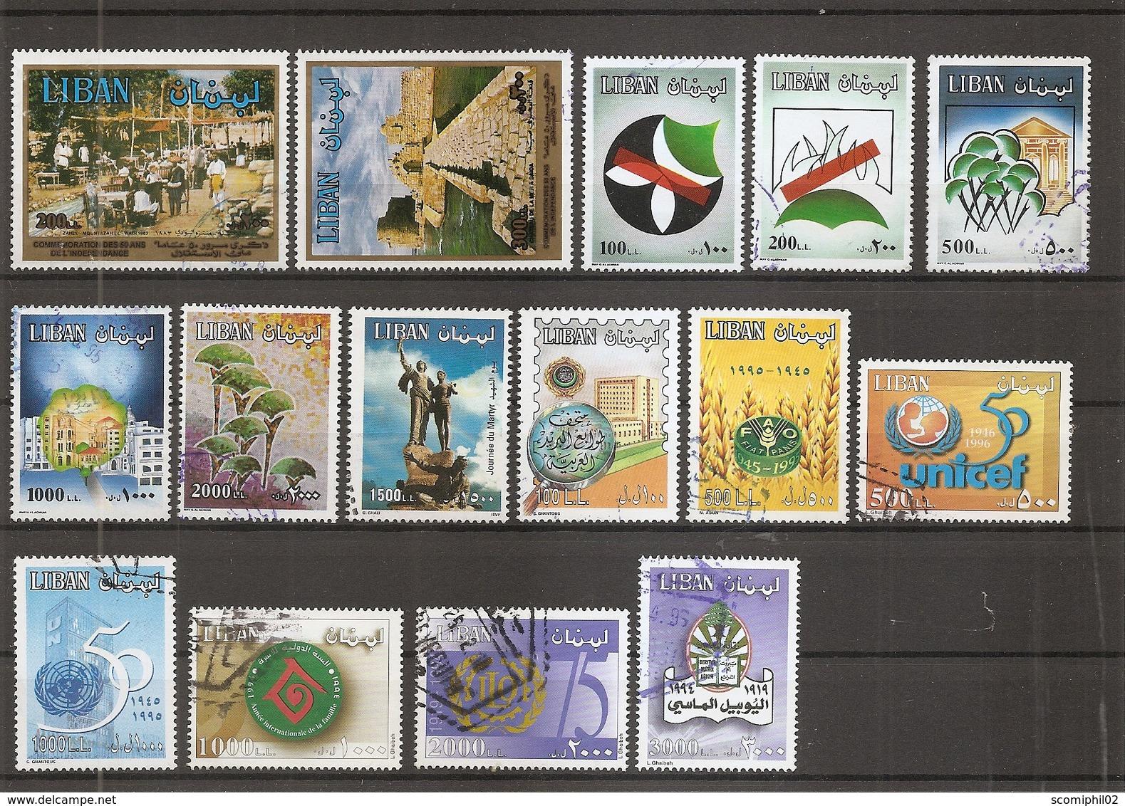 Liban ( Lot De Timbres Divers Différents Oblitérés) - Libanon