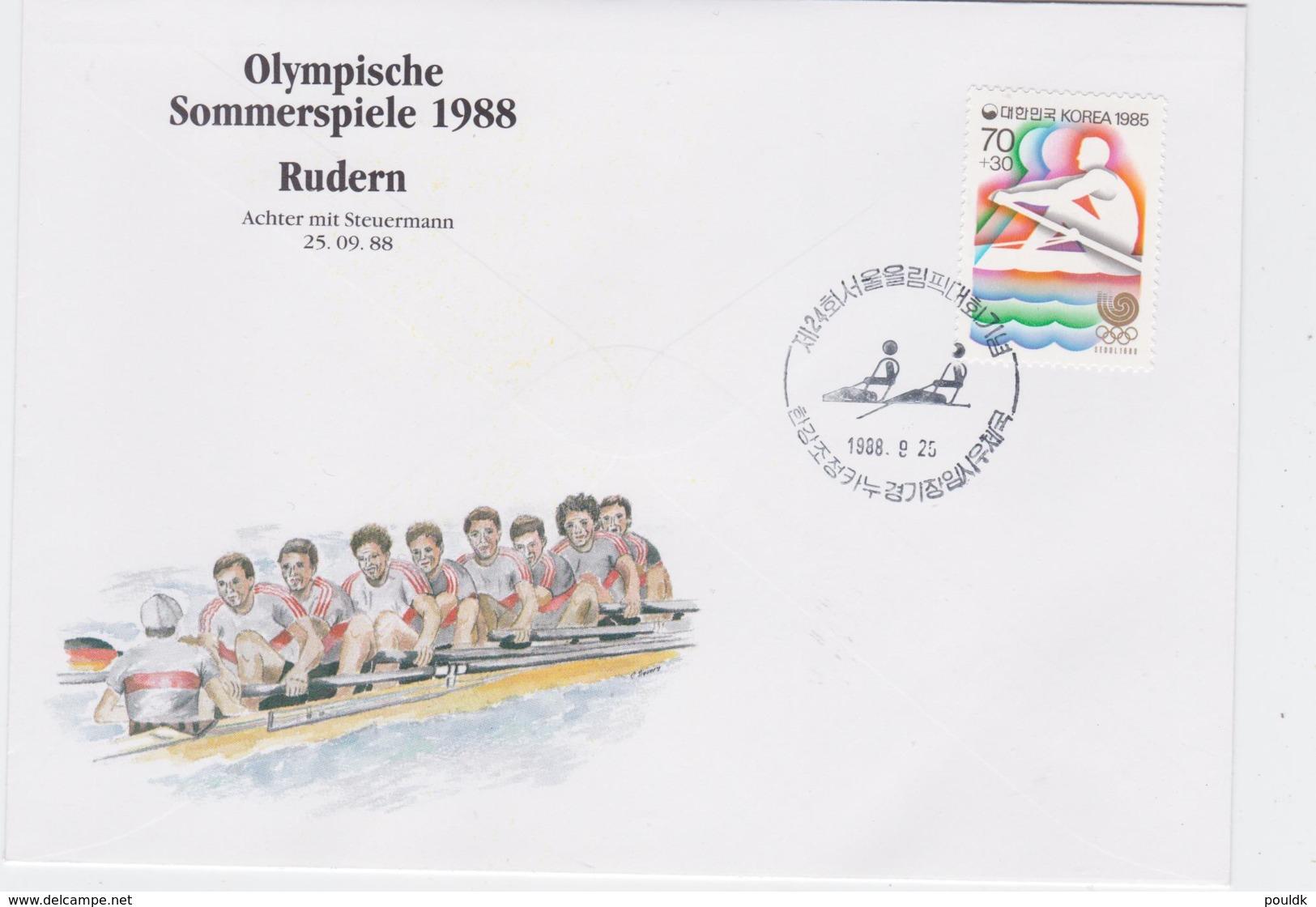 Korea Cover 1988 Seoul Olympic Games - Rudern (G96-29) - Summer 1988: Seoul