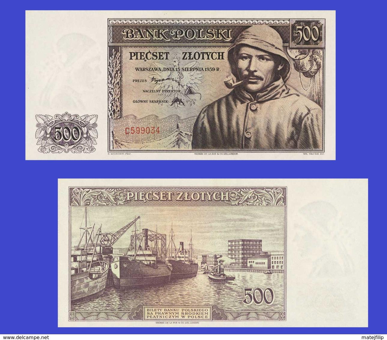 Poland  500 Zloty 1939 - Polen