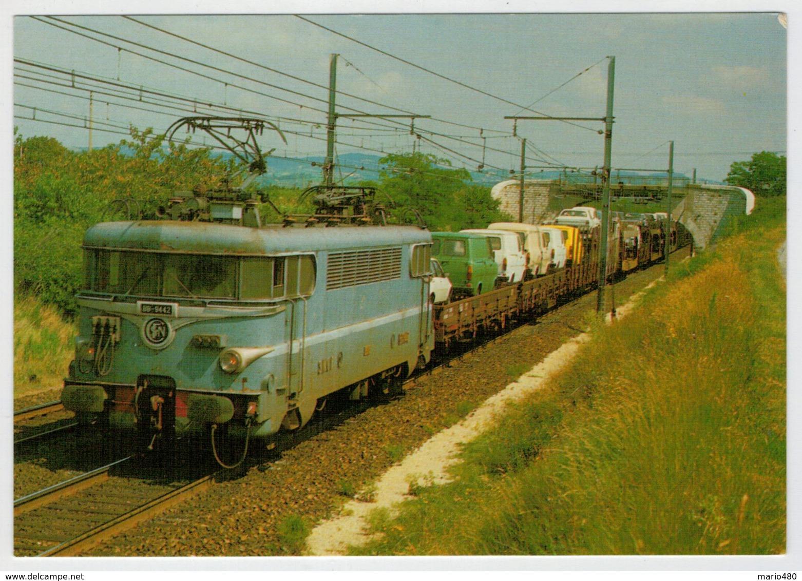 FRANCIA   VALENCE       TRAIN- ZUG- TREIN- TRENI-GARE- BAHNHOF- STATION- STAZIONI  2 SCAN  (VIAGGIATA) - Treni