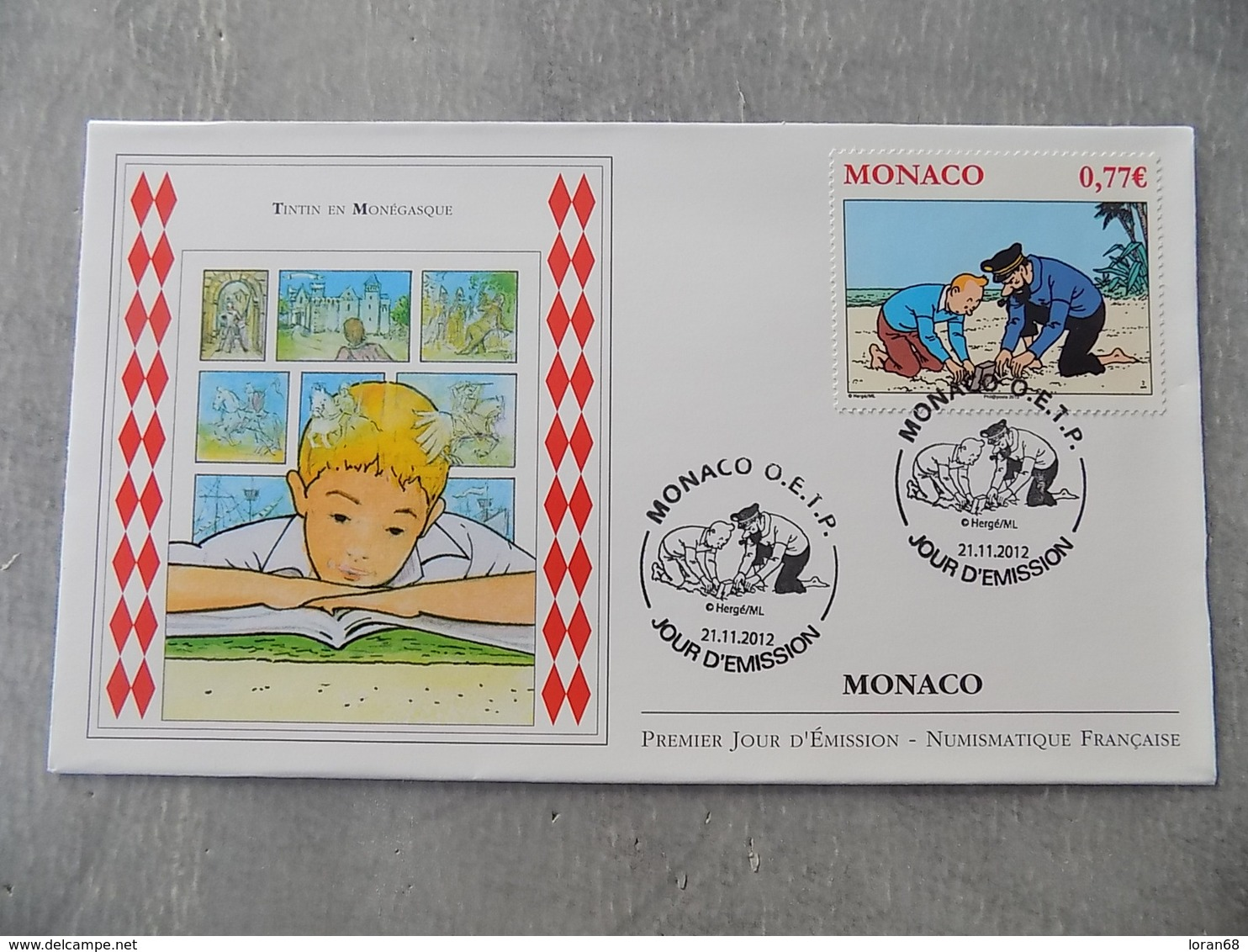 FDC MONACO 2012 : Tintin En Monégasque - FDC