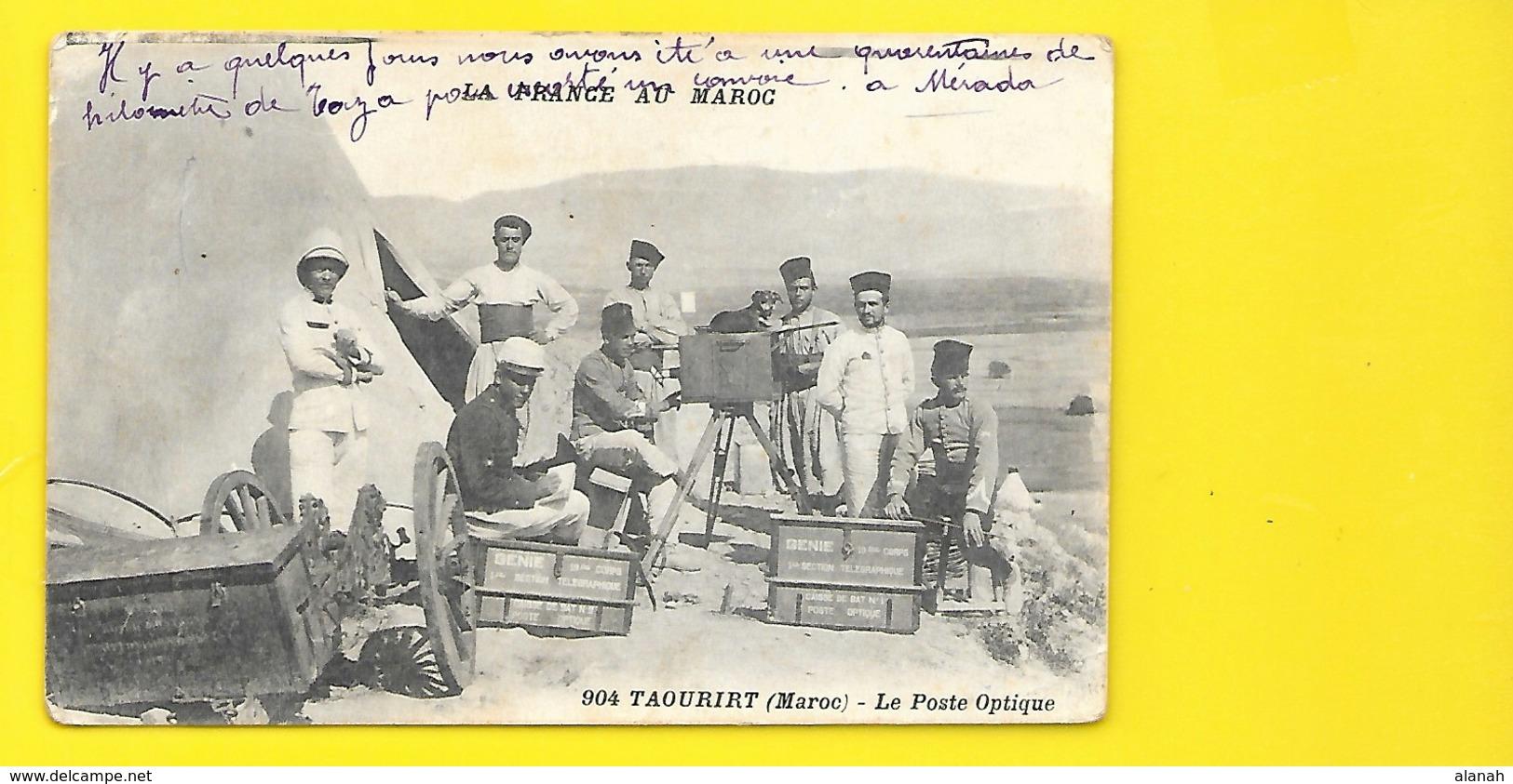 TAOURIRT Militaria Génie Poste Optique () Maroc - Morocco