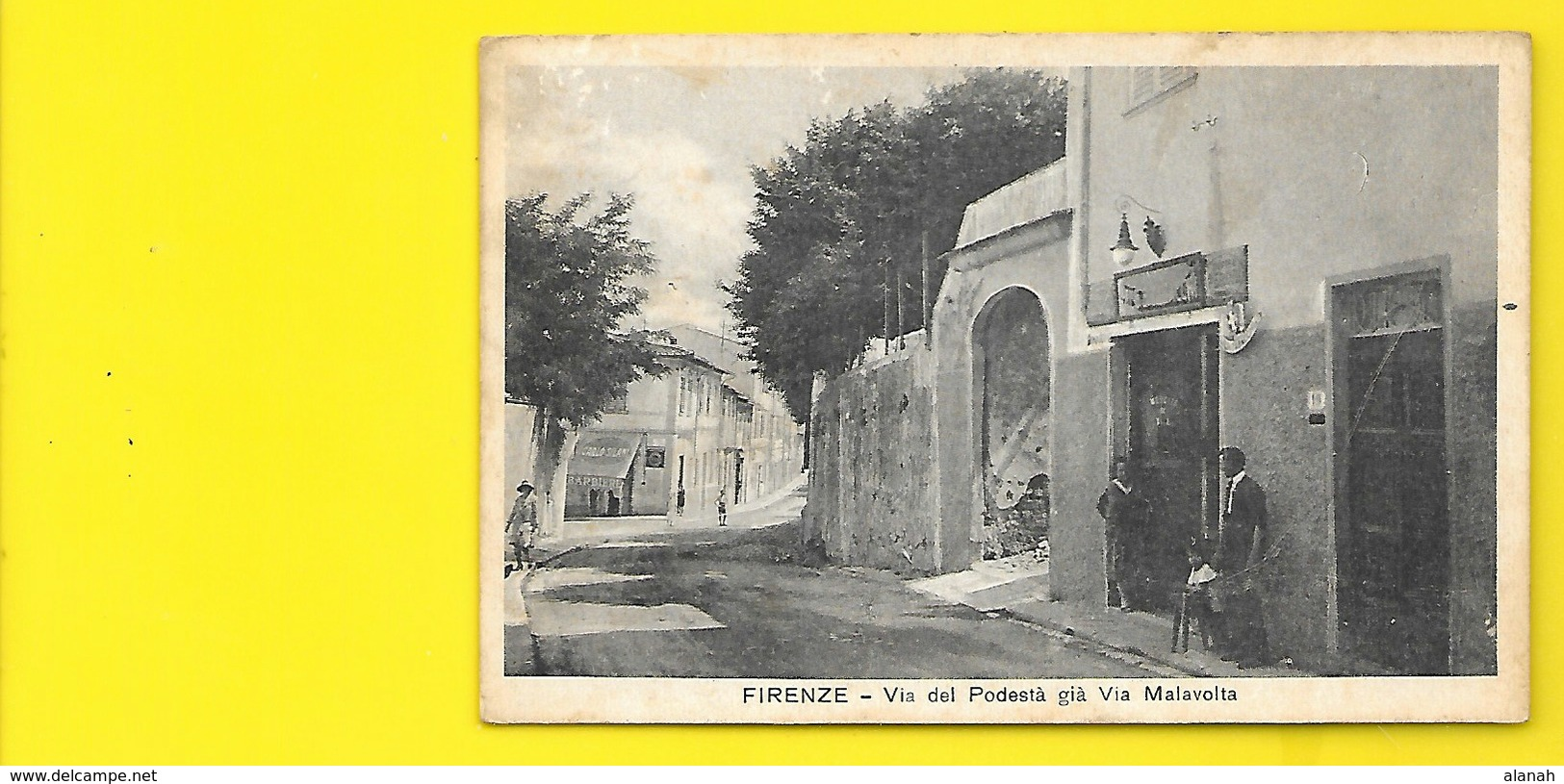 Rara Via Del Podesta Via Malavolta (Canale) Italie - Firenze (Florence)