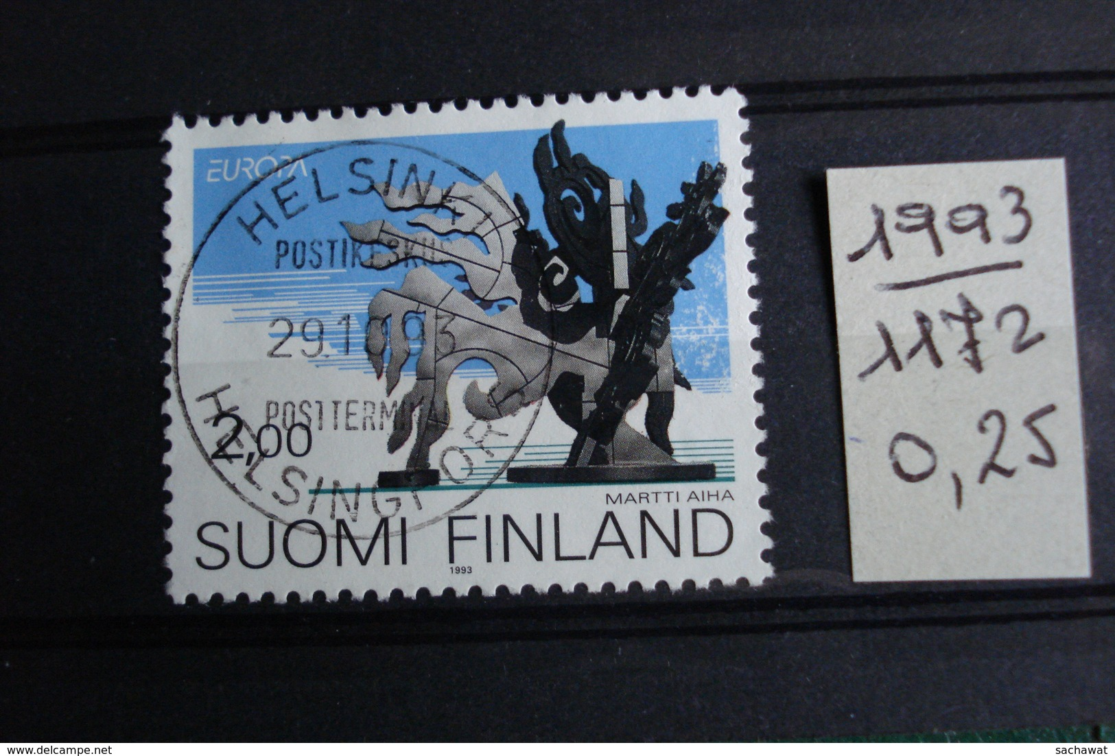 "Finlande - Année 1993 - Europa ""Art Contemporain"" - Y.T. 1172 - Oblitéré - Used - Gestempeld - Finlandia"