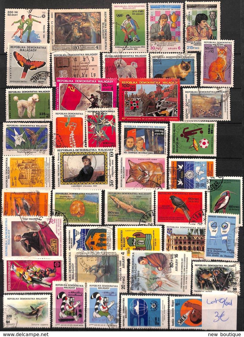 NB - [828997]B/TB//O/Used-Madagascar  - Tb Lot O/used, Animaux Divers, Célébrités, Sports - Madagascar (1960-...)
