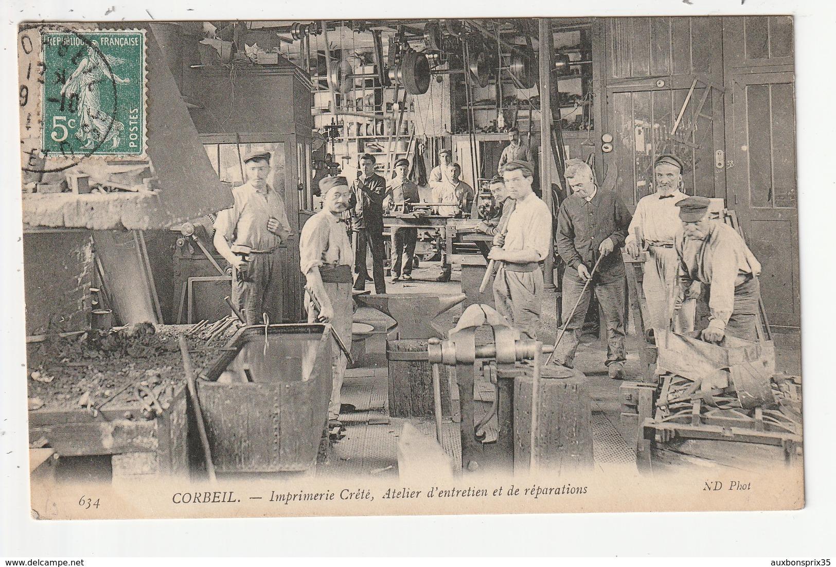 CORBEIL - IMPRIMERIE CRETE, ATELIER D'ENTRETIEN ET DE REPARATIONS - 91 - Corbeil Essonnes
