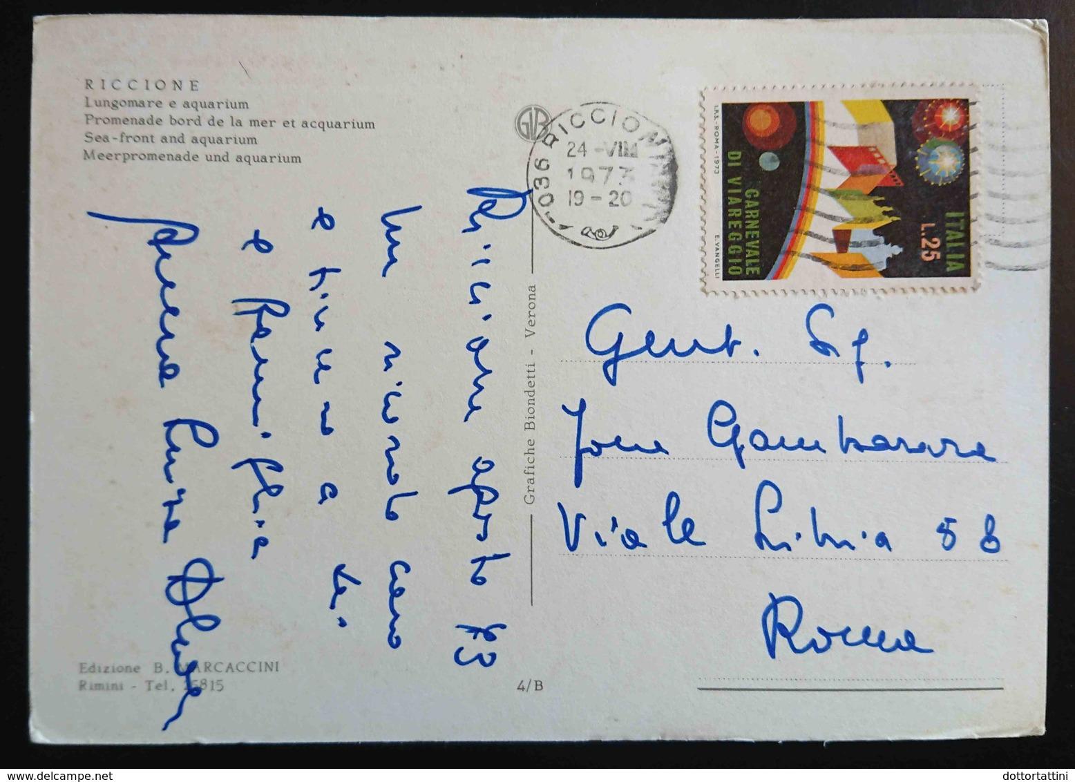 RICCIONE - Lungomare E Acquarium  - Vg Nice Stamp R2 - Rimini