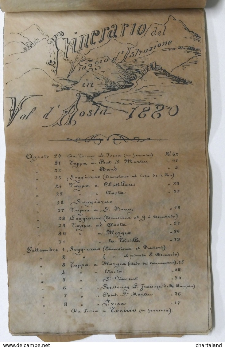Militaria - Accademia Militare Di Torino - 3° Corso - 1881 - 1882 - RARO - Documenti