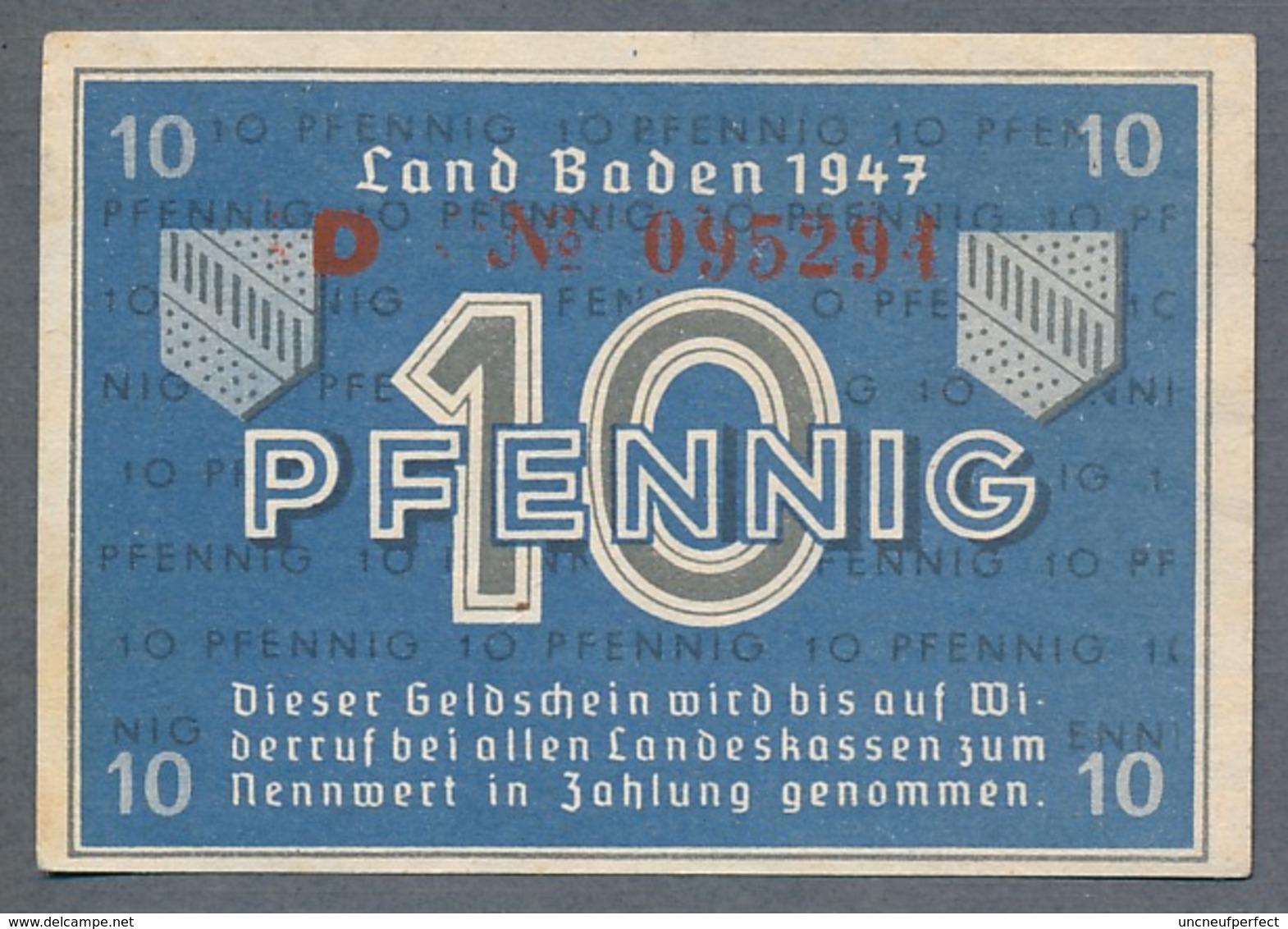PS1002a Ro209d FBZ-2d. 10 Pfennig 1947 UNC NEUF - [ 5] 1945-1949 : Occupazione Degli Alleati