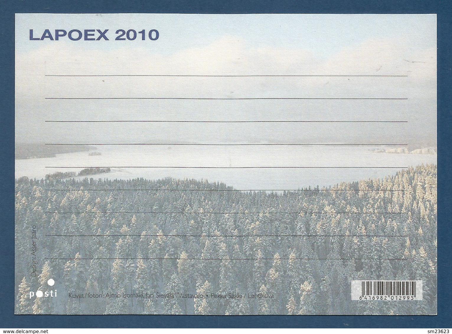 Suomi / Finland 2010 , Itella Oyj - Ganzsache / Karte PRIORITY - LAPOEX 2010 - Postfrisch / MNH / (**) - Finnland