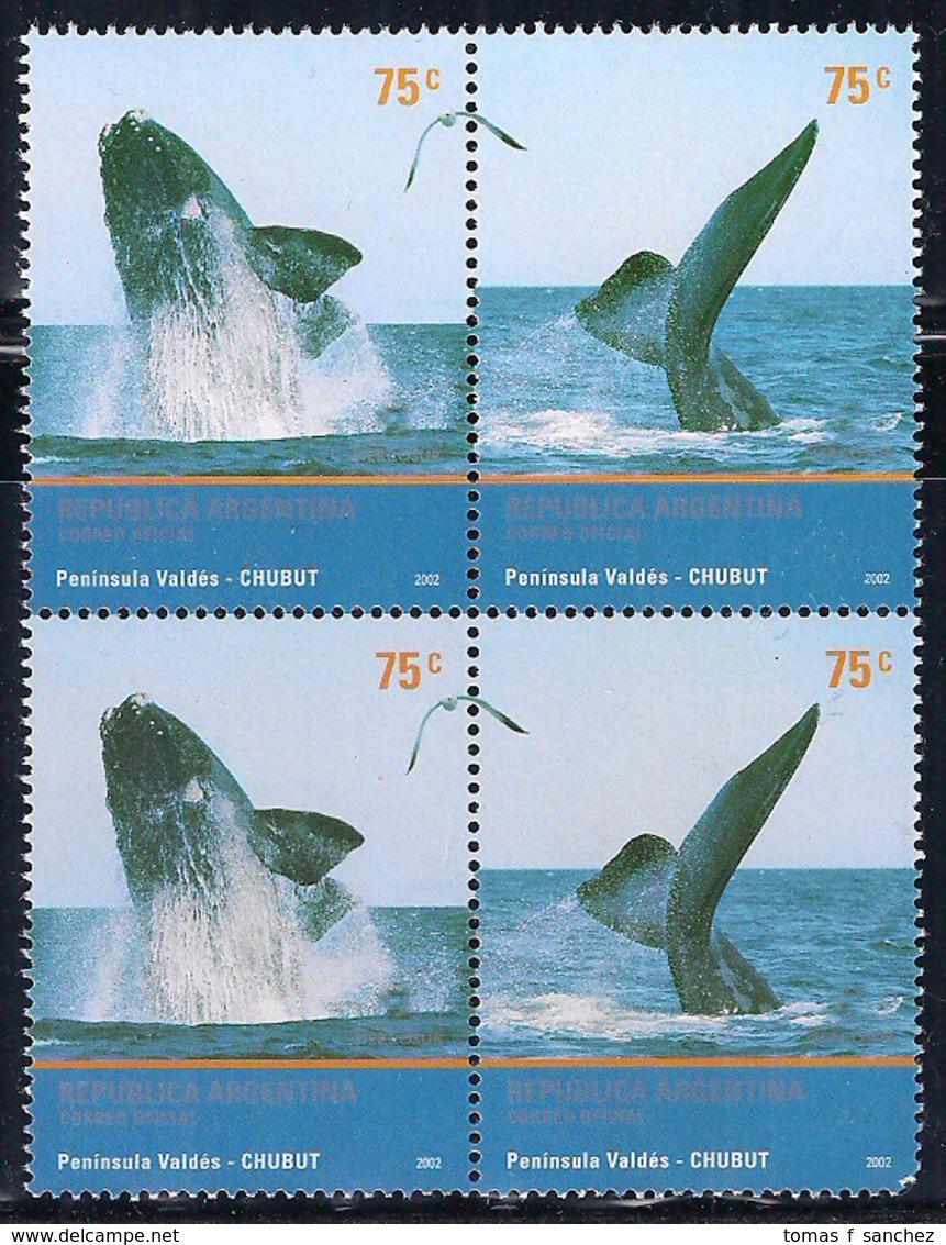 Argentina - 2002 - Faune. Cétacés - Baleines - Ballenas - Whales - Nuevos