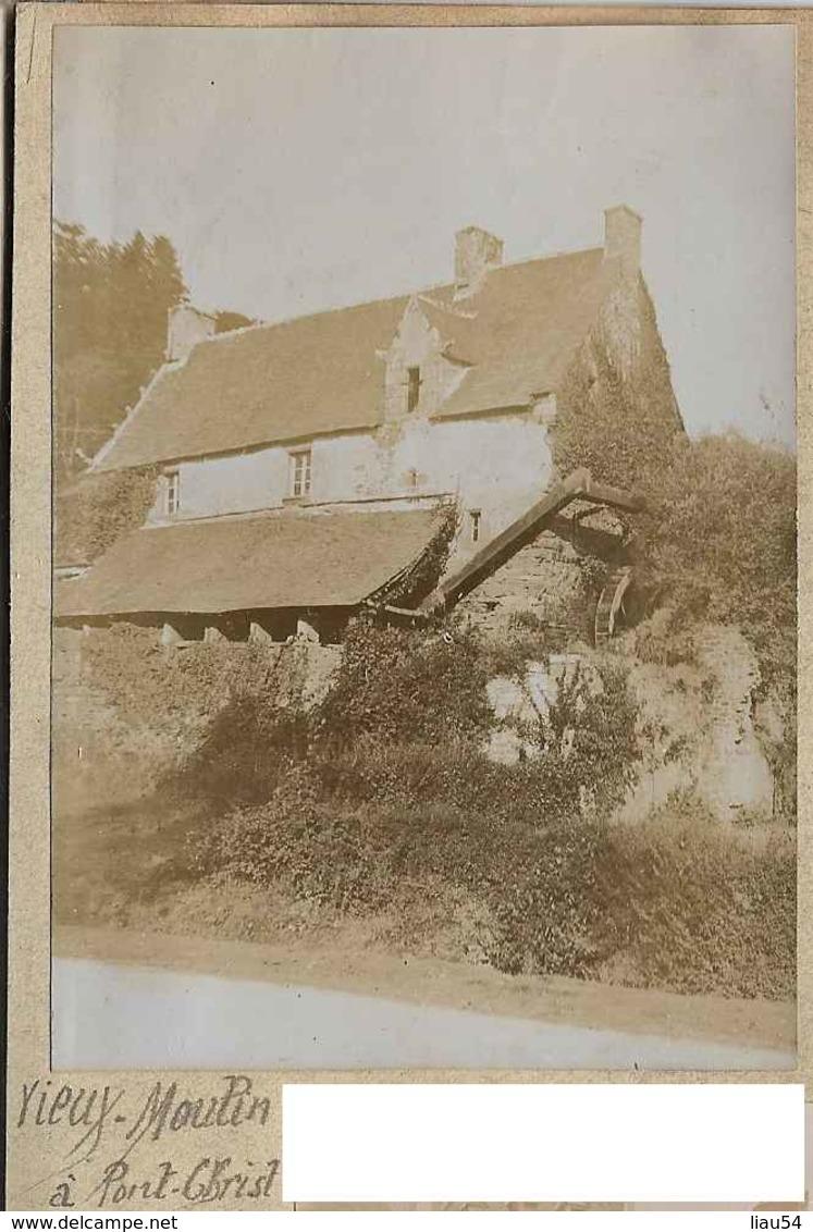Photo 10,8 X 7,8 Cm  Sur Page D'album Vieux Moulin à PONT-CHIST (1909) - France