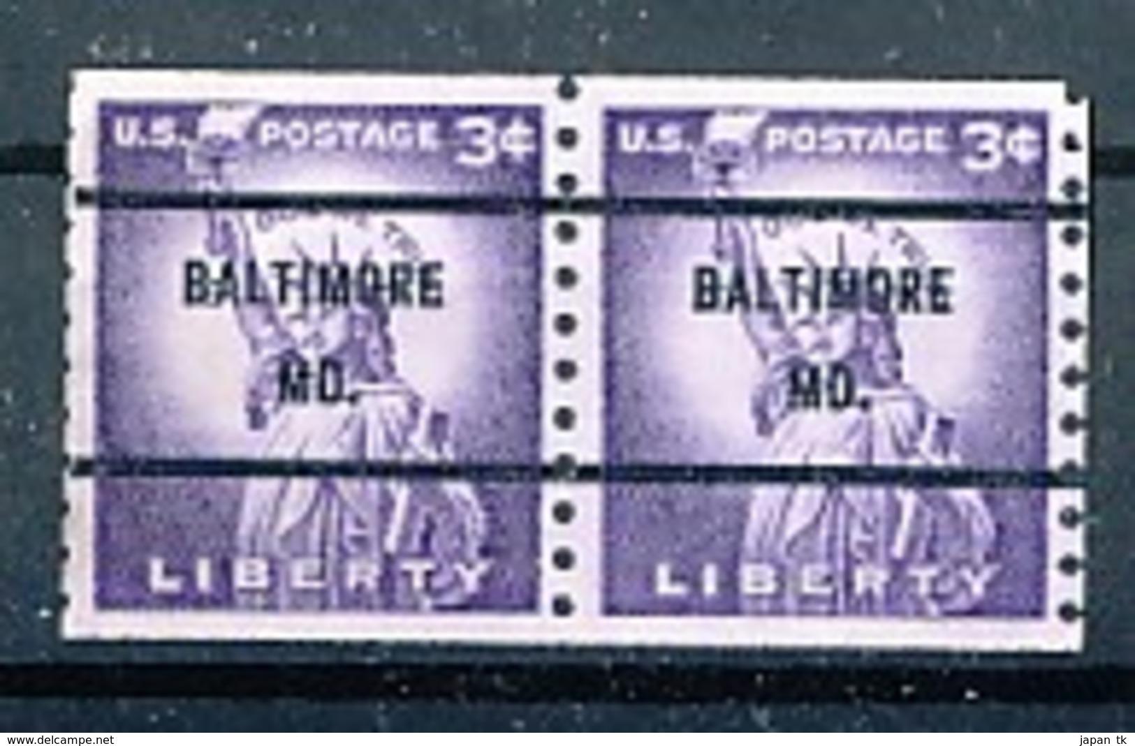 USA Precancel Vorausentwertung Preo -Baltimore - Siehe Scan - United States