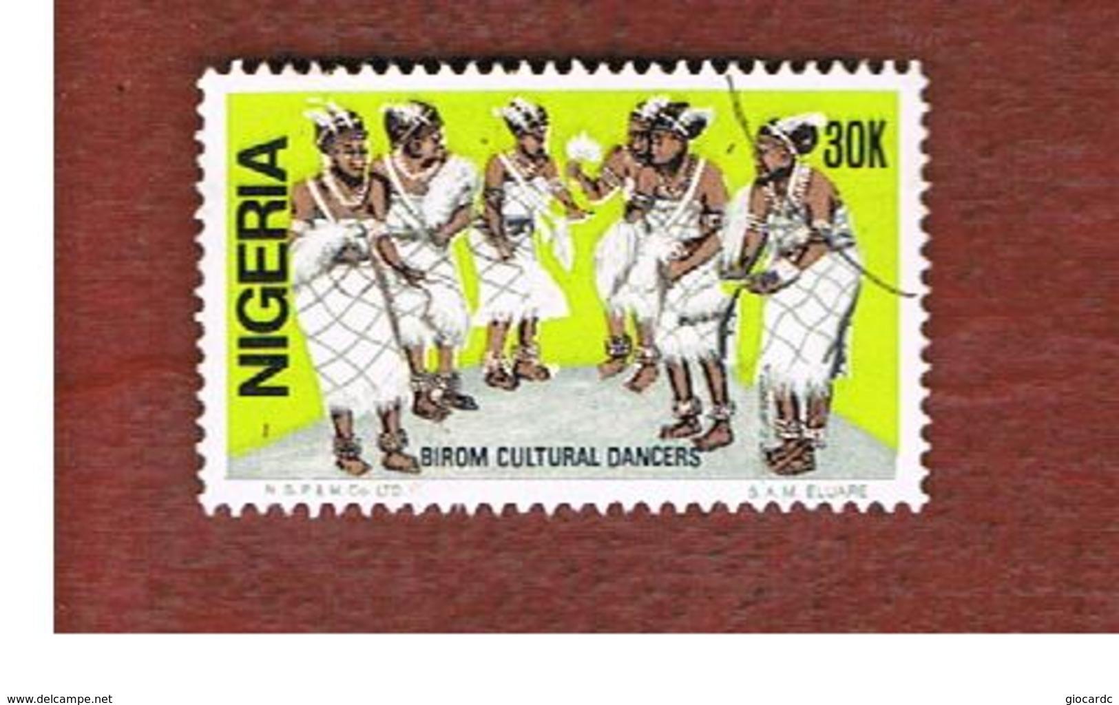 NIGERIA  -  SG 519  -  1986 BIROM DANCERS           -  USED * - Nigeria (1961-...)