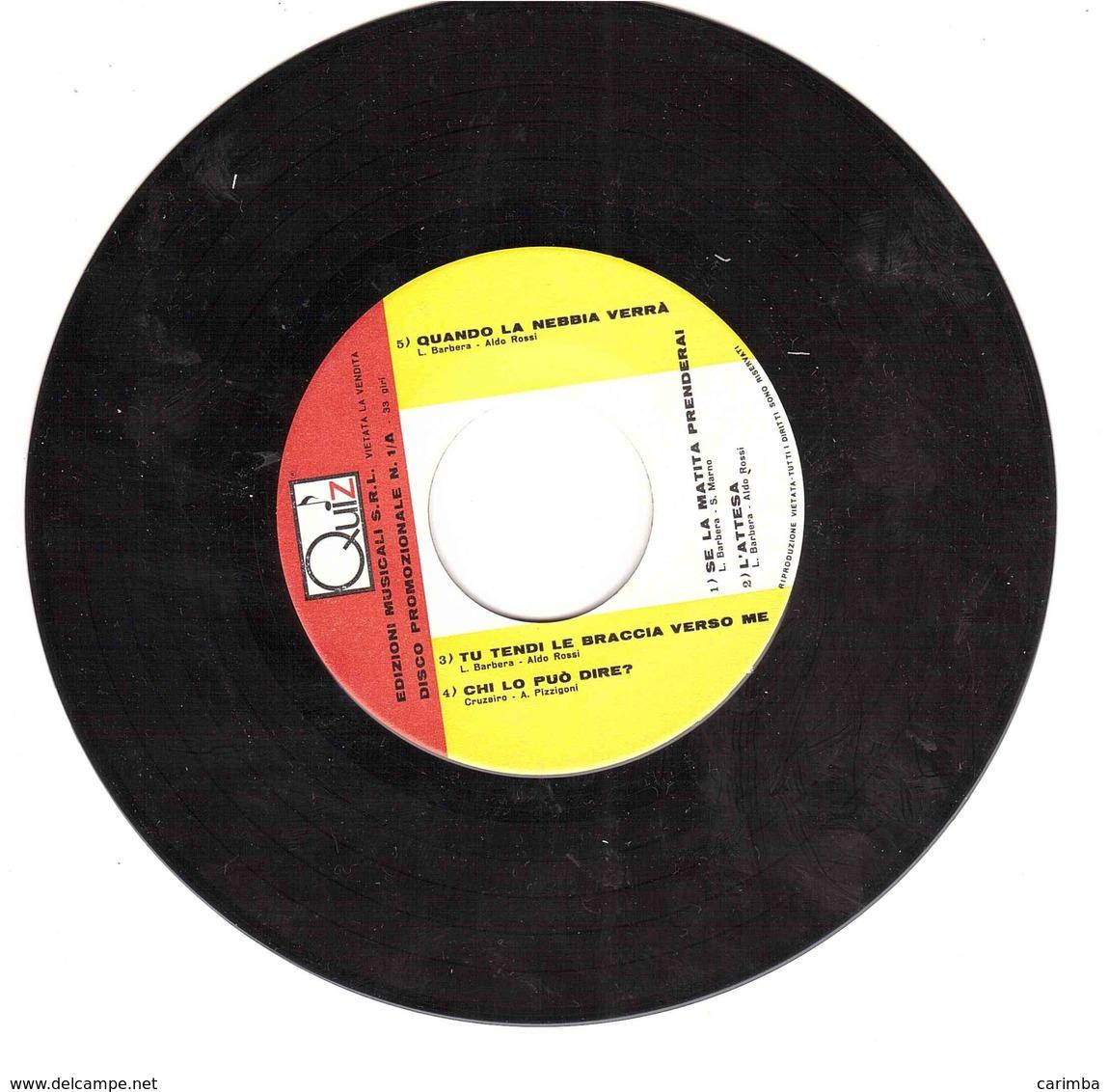 FORMATO PICCOLO QUIZ EDIZIONI MUSICALI - Disco, Pop