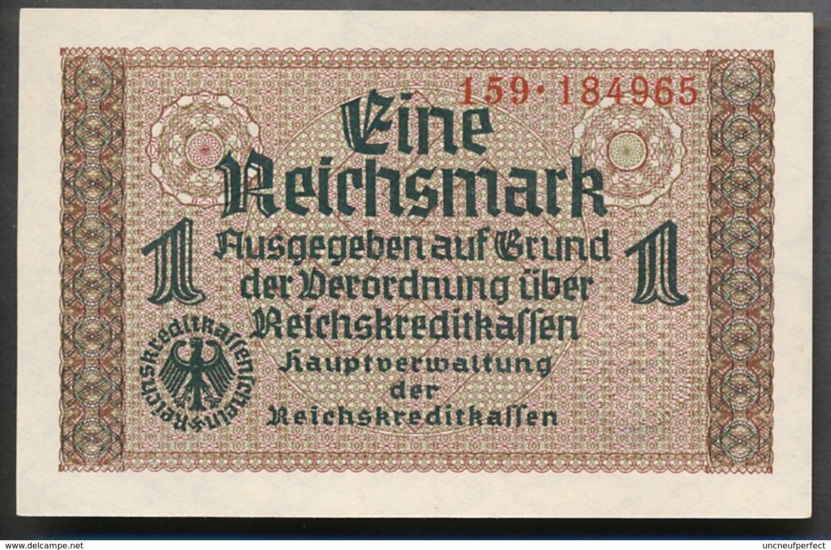 P-R136a  Ro551  ZWK-2a  1 Reichsmark 1939/44 ** UNC ** - [ 4] 1933-1945 : Terzo  Reich