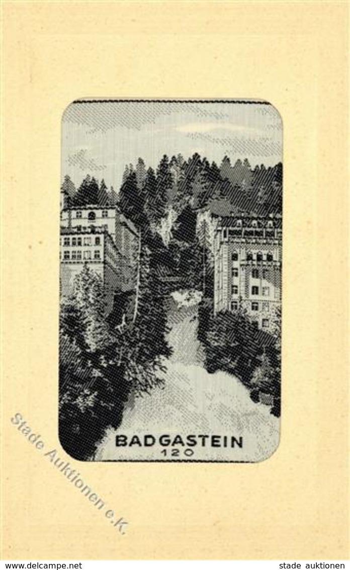 Seide Bad Gastein (5640) Österreich Gewebt  I-II Soie - Sonstige