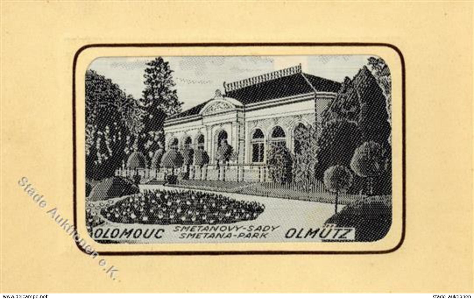 Seide Gewebt Ölmütz Smetana Park  I-II Soie - Ansichtskarten