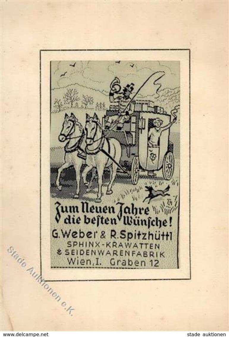 Seide Gewebt Postkutsche G. Weber & R. Spitzhüttl Seidenwarenfabrik Wien I-II (keine Ak-Einteilung, Fleckig) Soie - Ansichtskarten