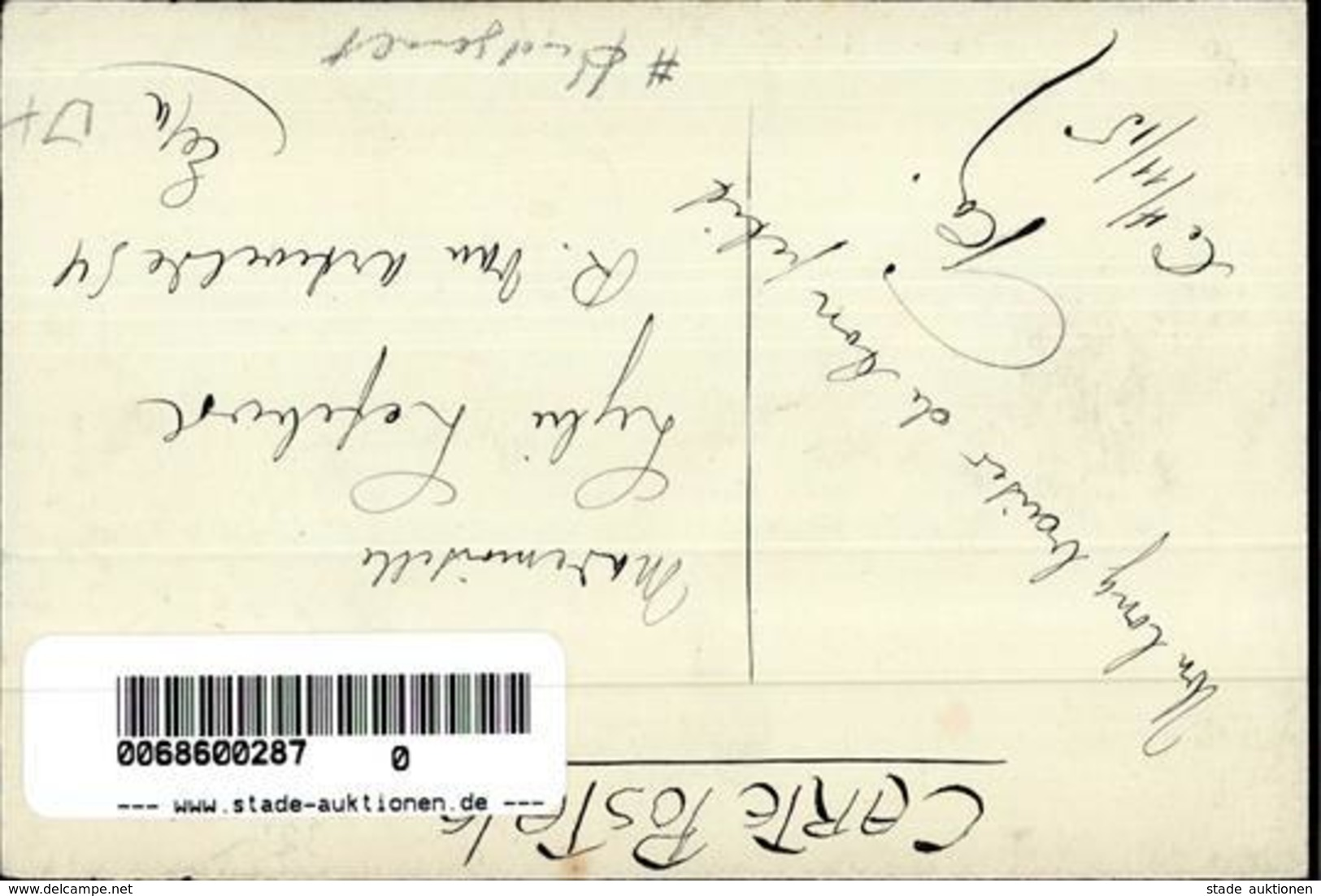 Handgemalt Frau Mode Sign. Jacobs, G. Künstlerkarte I-II Peint à La Main - Sonstige