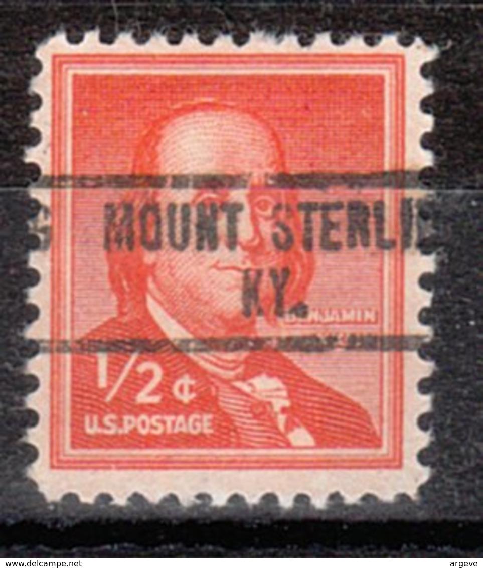 USA Precancel Vorausentwertung Preo, Locals Kentucky, Mount Sterling 734 - Vorausentwertungen